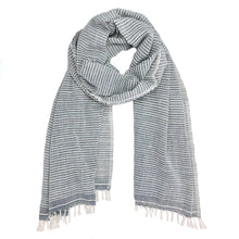 Load image into Gallery viewer, Fair Trade Lightweight Ethiopian Cotton Stripe Scarf