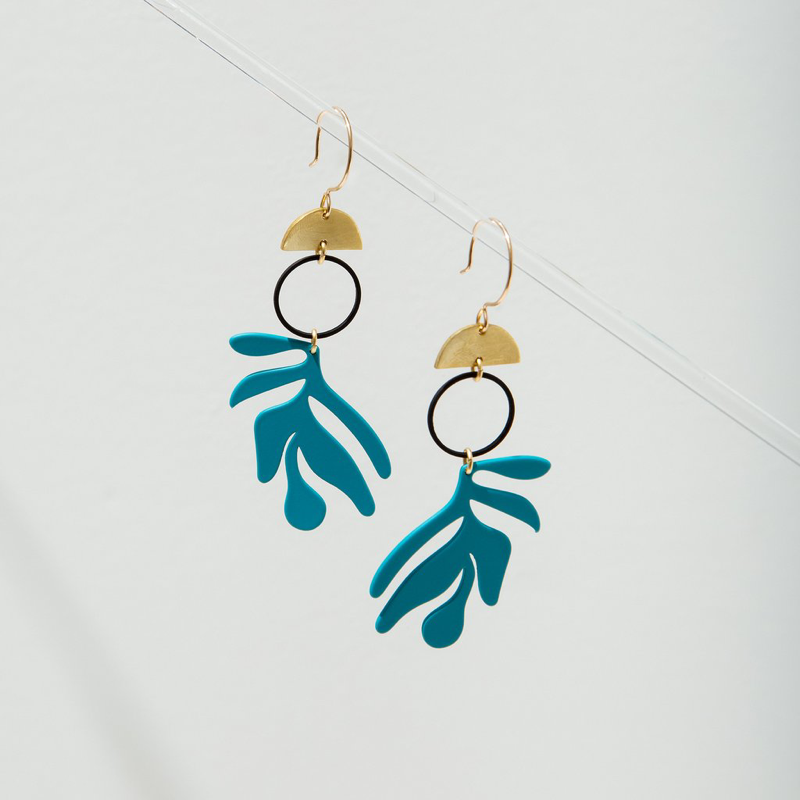 Vermilion Earrings Turquoise