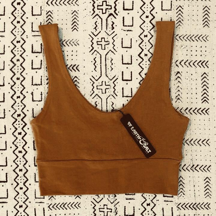 Of Earth & Salt • Crop Tank • Warm Bronze