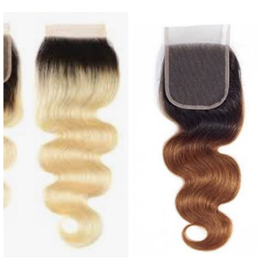 Ombré Closures-PrePlucked-Baby Hair