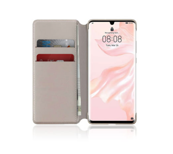 Huawei Wallet Cover Khaki, für Huawei P30, Blister