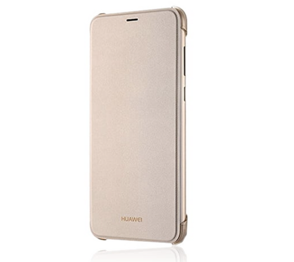 Huawei Smart View Flip Cover Book Style Gold, für Huawei P Smart, Blister