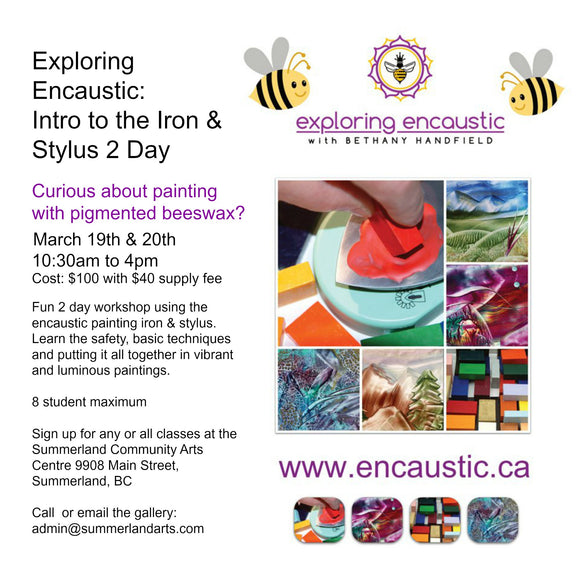 March class at the Summerland Community Arts Council