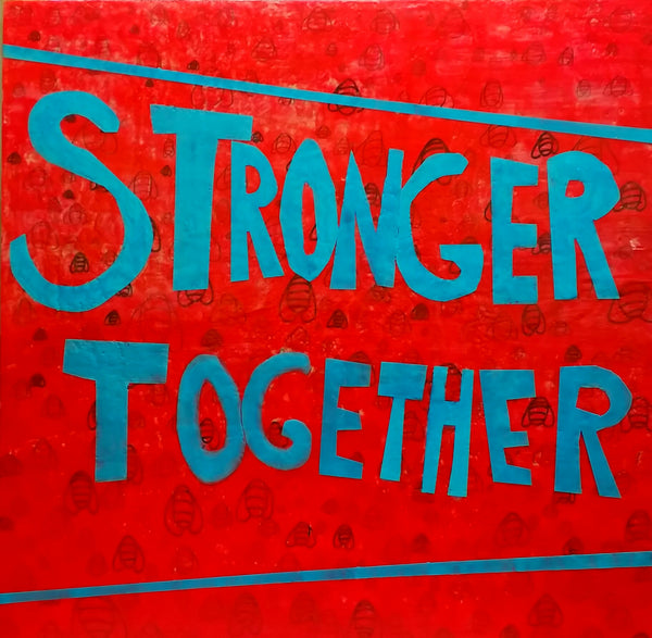 Stronger Together Encaustic Bethany Handfield