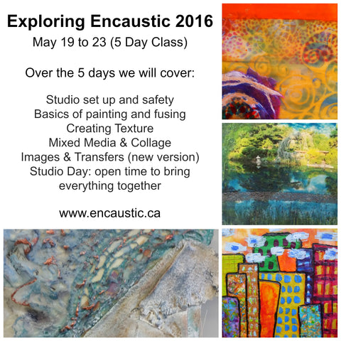 Exploring Encaustic 2016 5 day class