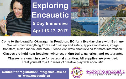 Exploring Encaustic 2017 with Bethany Handfield