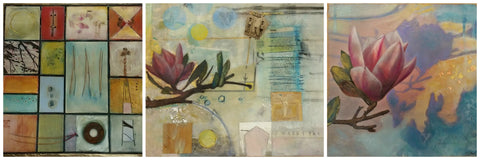 Andrea Bird encaustic paintings