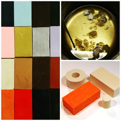 Custom encaustic wax, encaustic medium & encaustic sponges