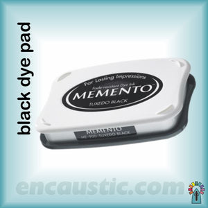 "Encaustic Art: Stamp Pad black, big size 90 x 160mm (3.5""x6.5"")"