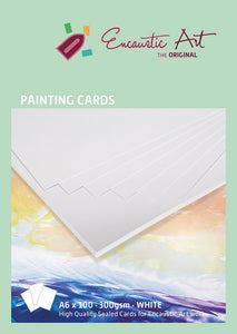 Encaustic Art Painting Cards: A6 White