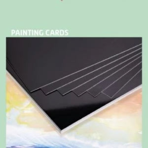 Encaustic Art Painting Cards: A3 black