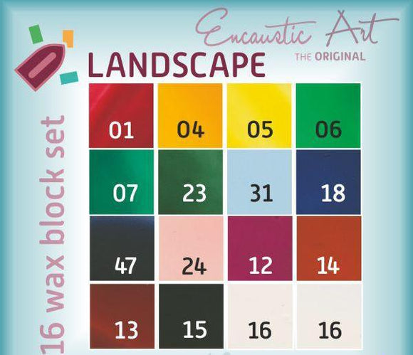 Encaustic Art Wax Paint: Landscape Set