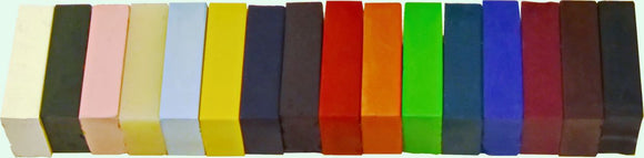 Encaustic Art Wax Paint: Custom Set - 16 Blocks