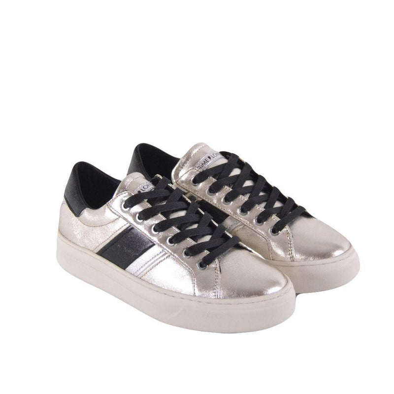Crime London sneakers Sonik donna argento e nere