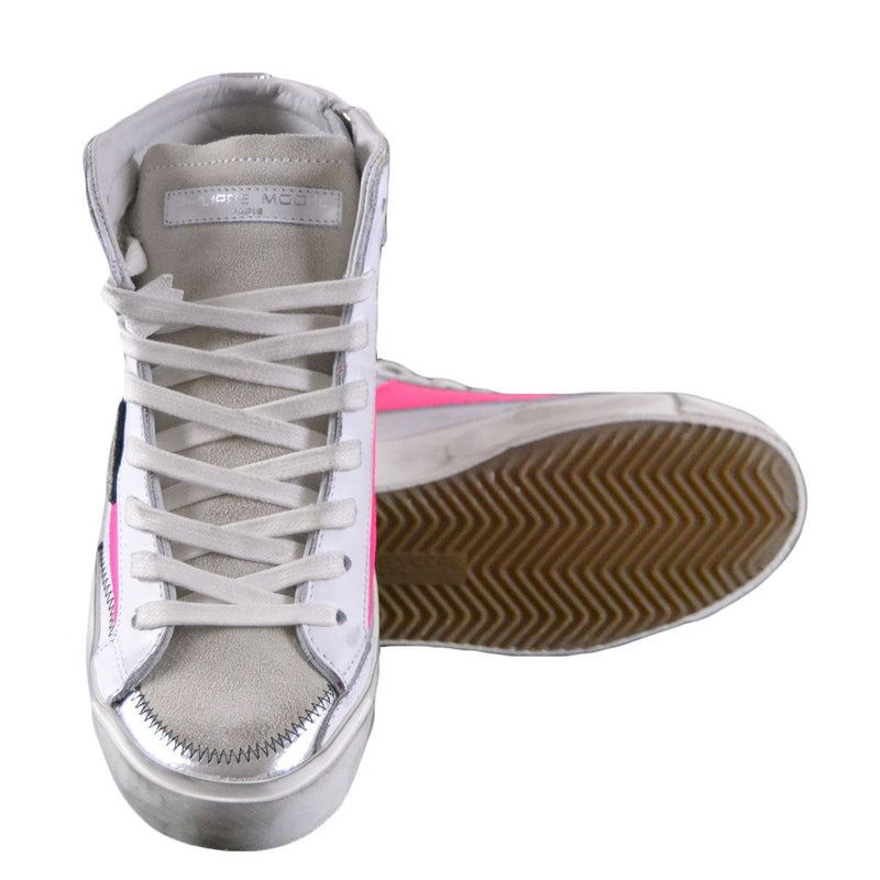 Philippe Model Bike X sneakers alte donna bianche e fucsia