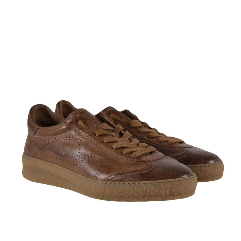 Barracuda by Fabi Shoes sneakers basse uomo cuoio anticato