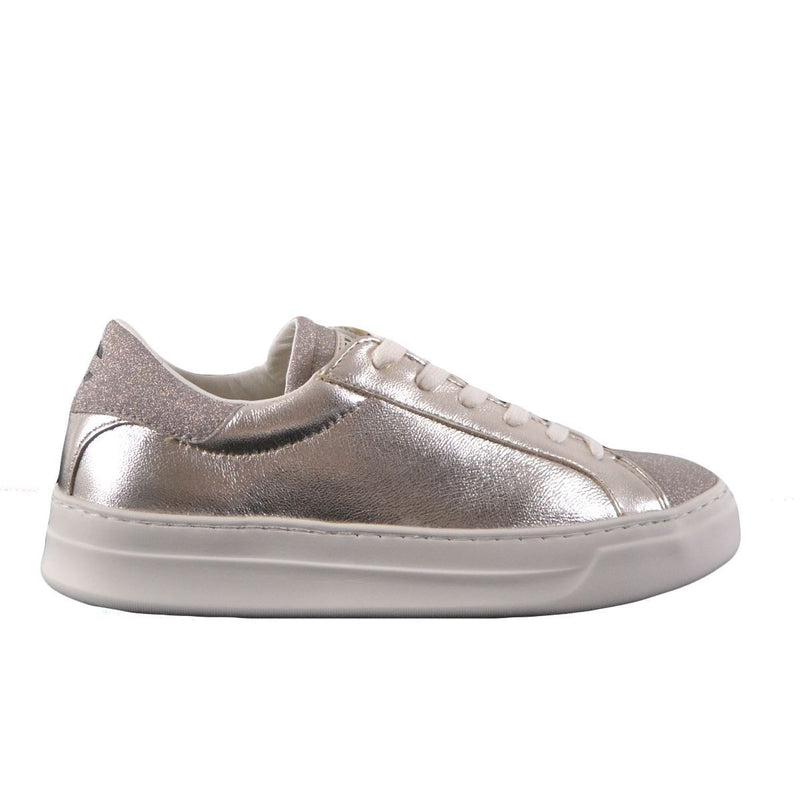 Crime London sneakers basse laminate donna glitter platino