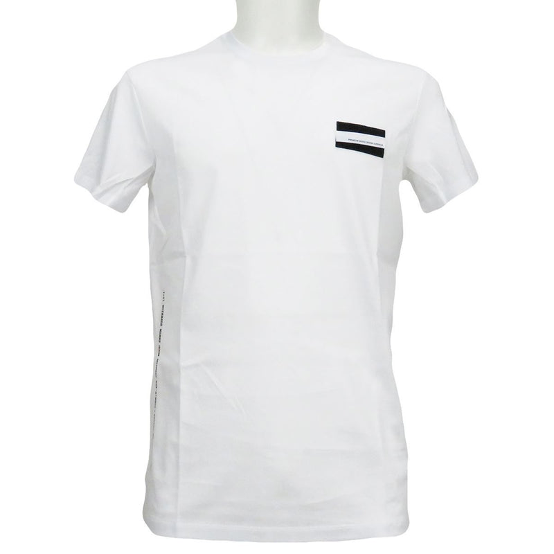 Pmds t-shirt uomo con patch bianca