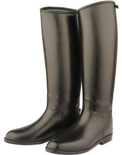 Shires Long Rubber Riding Boots Childrens Black