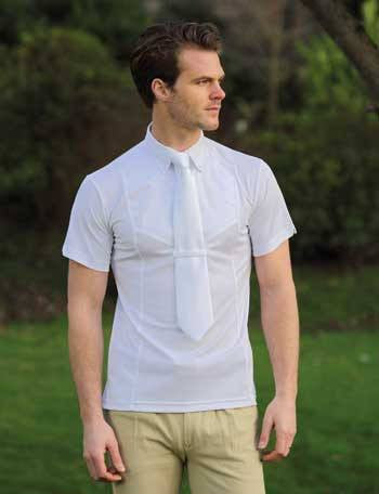 Mens Short Sleeve Show Shirt In White