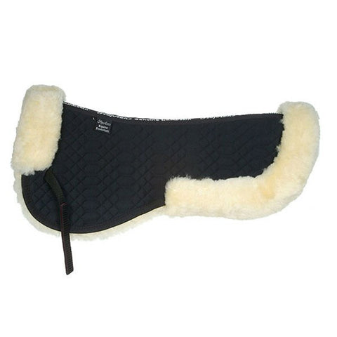 Sheepskin Half Pad in Black/Natural