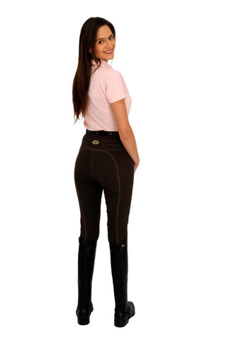 Rugged contrast stitch full seat breech rear view