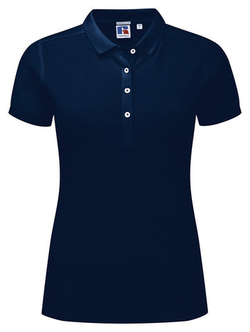 Ladies Stretch Polo In Navy