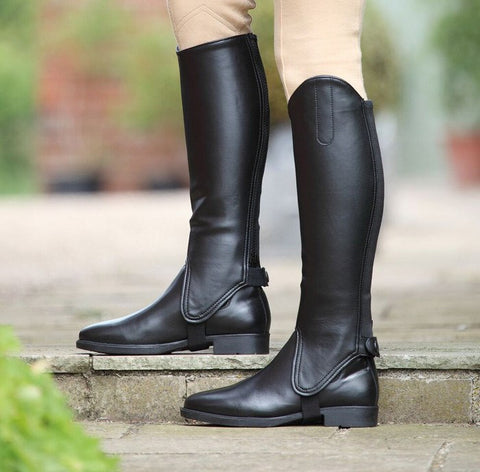 Shires Lined Gaiters In Black