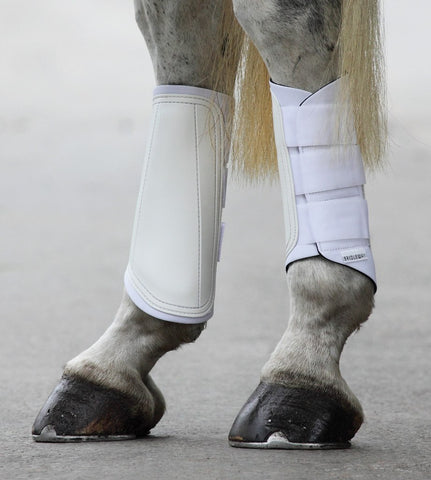 Bridleway Equestrian Brushing Boots shown in white