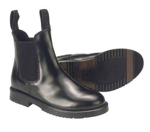 Comfey Classic leather jodhpur boots in black.