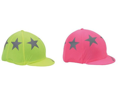 Equi-Flector Hat Cover In Pink & Yellow