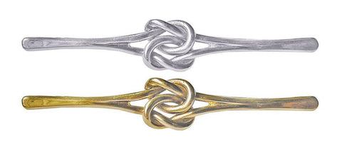Gold & Silver Knot Pin