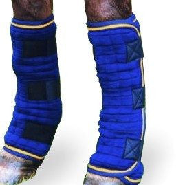 Quilted Leg Wraps In Blue