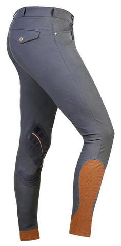 Grey/Orange Schockemohle Equinox Draco Breeches