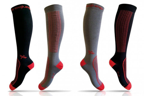 Riding Socks In Black/Red