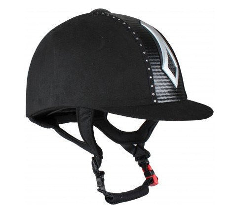 Falcon Strass Riding Hat In Black
