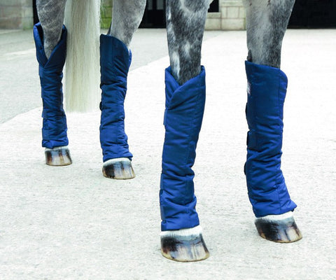Economy Travelling Boots Shown On Horse