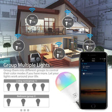 Load image into Gallery viewer, Magic 7W E27 RGB WIFI Led Smart Bulb Light Wireless Smart Home Automation Lamp , 85-265V bulb Compatible with ALexa Google Home