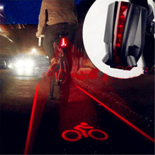 Load image into Gallery viewer, Rear Bicycle Tail Light 2 Laser+5 LED Red Lamp 4 flashing model