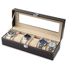 Load image into Gallery viewer, 2/6/10 Slots Leather Watch Display Storage