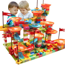 Load image into Gallery viewer, 77-308PCS Marble Race Run Big Block Compatible Duploed Building Blocks Funnel Slide Blocks DIY Big Bricks Toys For Children gift