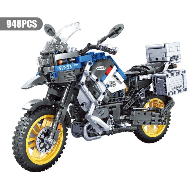 Technic Motorcycle car Model building blocks Speed Racing car City Vehicle MOC Motorbike bricks Kits toys for children boys