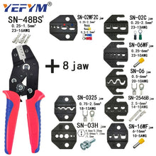 Load image into Gallery viewer, Crimping Pliers Set SN-48BS(=SN-48B+SN-28B) Jaw Kit for 2.8 4.8 6.3 VH3.96/Tube/Insulation Terminals Electrical Clamp Min Tools