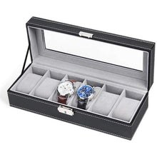 Load image into Gallery viewer, 1/2/3/5/6 Grids PU Leather Watch Box