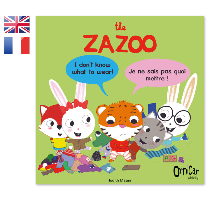 the Zazoo livre bilingue anglais français clothes les habits
