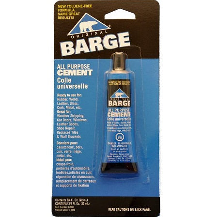 Barge Cement 3/4 oz. tube (for suede sole repairs)