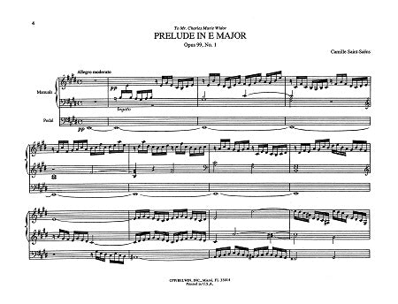 Six Preludes and Fugues, Opus 99 and Opus 109 By Camille Saint-Saëns