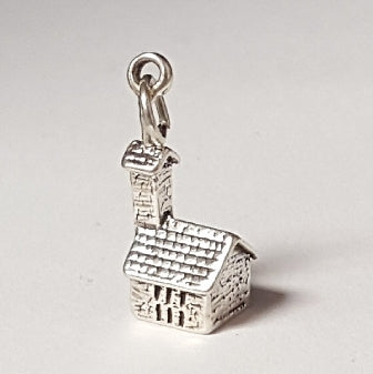 Sterling Silver Charm Church