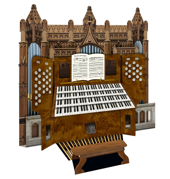Cathedral Pipe Organ Greeting Card