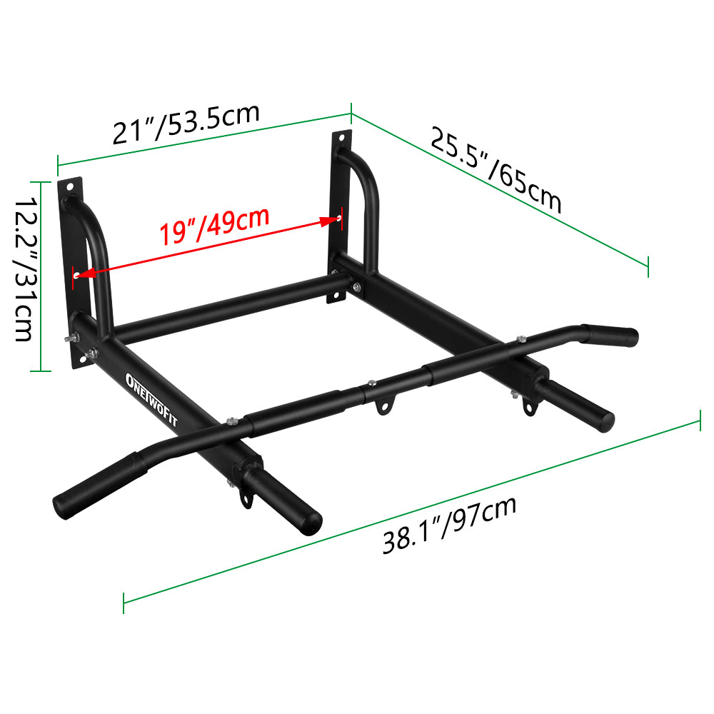 OneTwoFit Wall Mounted Pull Up Bar OT103
